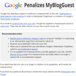 MyBlogGuest And A Whole Network Of Sites (Including Mine) Got Manually Penalized By Google